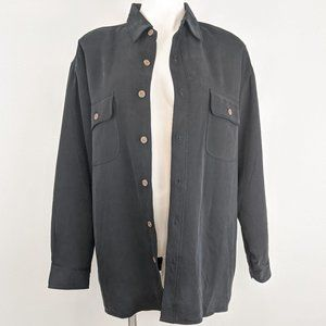 Tommy Bahama | quilted silk shirt jacket | M